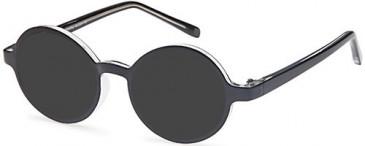 SFE-10460 sunglasses in Black/Crystal