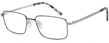 Sakuru SAK1007T glasses in Black/Silver