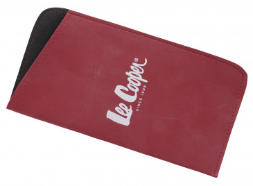 Lee Cooper Glasses Pouch in Red
