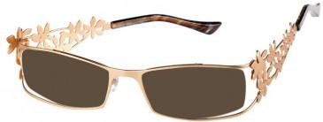 Prodesign Denmark PD5115 sunglasses in Gold Dark Matt