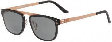 Prodesign Denmark 8504 sunglasses in Black Medium Matt