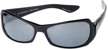 Prodesign Denmark 8605 sunglasses in Black Dark Shiny