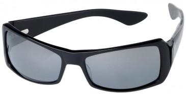 Prodesign Denmark 8606 sunglasses in Black Dark Shiny