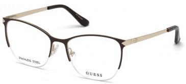 Guess GU2666-53 glasses in Matte Dark Brown