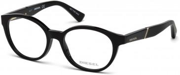 Diesel DL5284 glasses in Shiny Black
