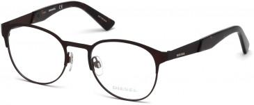 Diesel DL5236 glasses in Matte Dark Brown