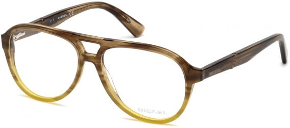 Diesel DL5255 glasses in Shiny Light Brown