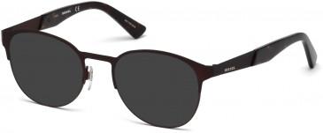 Diesel DL5236 sunglasses in Matte Dark Brown