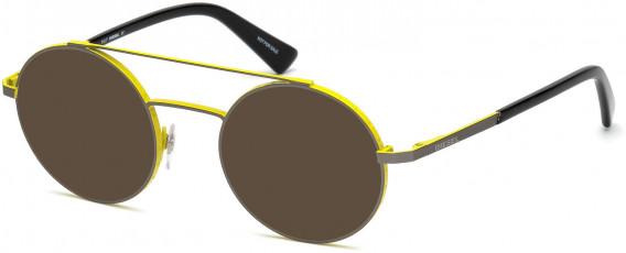 Diesel DL5272 sunglasses in Matte Gunmetal
