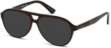 Diesel DL5255 sunglasses in Dark Havana
