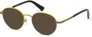 Diesel DL5280 sunglasses in Matte Gunmetal