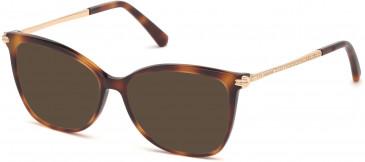 Swarovski SK5316 sunglasses in Dark Havana/Smoke