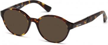 Diesel DL5266 sunglasses in Dark Havana