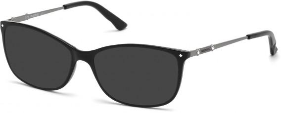 Swarovski SK5179 sunglasses in Shiny Black