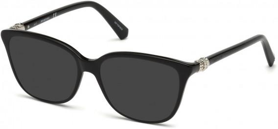 Swarovski SK5242-52 sunglasses in Shiny Black