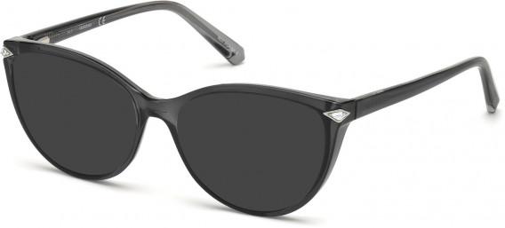 Swarovski SK5245 sunglasses in Shiny Black