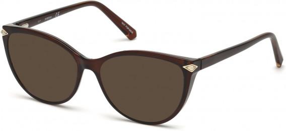 Swarovski SK5245 sunglasses in Shiny Dark Brown