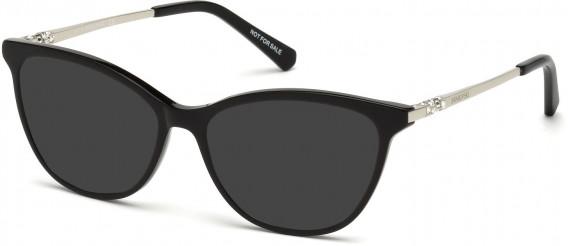 Swarovski SK5249-H sunglasses in Shiny Black