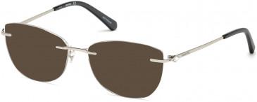 Swarovski SK5252 sunglasses in Shiny Palladium