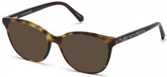 Swarovski SK5264-52-52 sunglasses in Dark Havana
