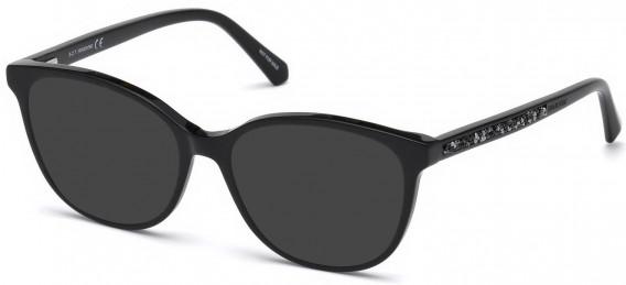 Swarovski SK5264-52-52 sunglasses in Shiny Black