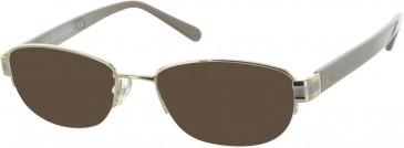 Diane von Furstenberg DVF8039 sunglasses in Light Gold