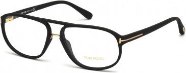 TOM FORD FT5296 glasses in Matte Black