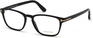 TOM FORD FT5355-52 glasses in Shiny Black