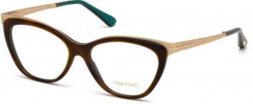 TOM FORD FT5374 glasses in Dark Havana