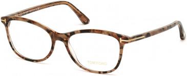 TOM FORD FT5388-54 glasses in Coloured Havana