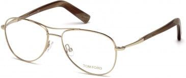 TOM FORD FT5396-54 glasses in Shiny Rose Gold