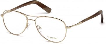 TOM FORD FT5396-56 glasses in Shiny Rose Gold