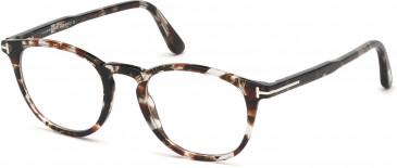TOM FORD FT5401-51 glasses in Coloured Havana
