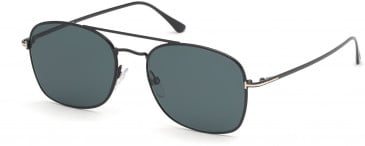 TOM FORD FT0650 sunglasses in Shiny Black / Green