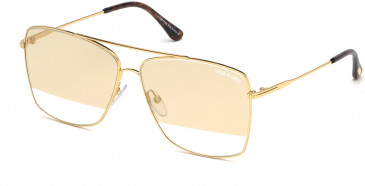 TOM FORD FT0651 sunglasses in Shiny Endura Gold / Smoke Mirror