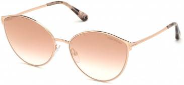 TOM FORD FT0654 sunglasses in Gold/Other / Gradient Or Mirror Violet