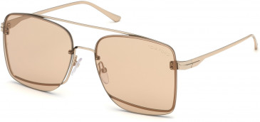 TOM FORD FT0655 sunglasses in Shiny Rose Gold / Brown