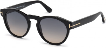 TOM FORD FT0615-50 sunglasses in Shiny Black / Gradient Smoke