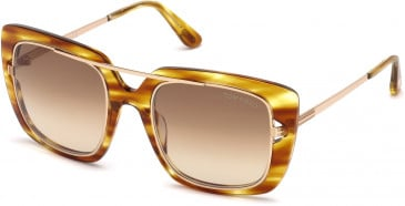 TOM FORD FT0619 sunglasses in Light Brown/Other / Gradient Brown
