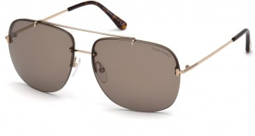 TOM FORD FT0620 sunglasses in Shiny Rose Gold / Roviex