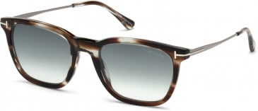 TOM FORD FT0625-53 sunglasses in Dark Brown/Other / Gradient Blue