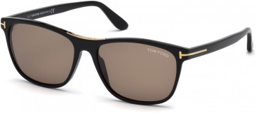 TOM FORD FT0629 sunglasses in Shiny Black / Smoke