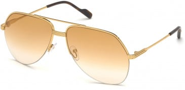 TOM FORD FT0644 sunglasses in Gold / Gradient Brown