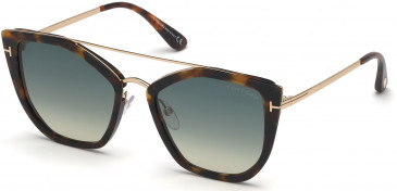 TOM FORD FT0648 sunglasses in Havana/Other / Gradient Green