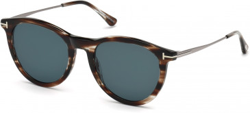 TOM FORD FT0626 sunglasses in Dark Brown/Other / Blue