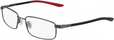 Nike 4301-52 glasses in Brushed Gunmetal/Gym Red