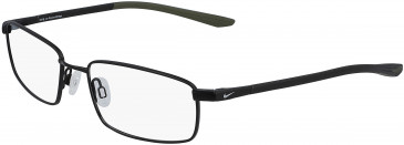 Nike 4301-54 glasses in Satin Black/Medium Olive