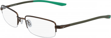 Nike 4302-53 glasses in Brushed Walnut/Lucid Green