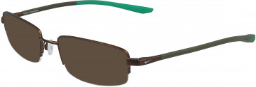 Nike 4302-55 sunglasses in Brushed Walnut/Lucid Green