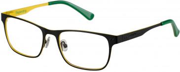 Superdry SDO-MASON glasses in Matte Black/Yellow/Green